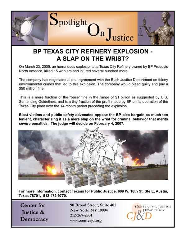 case study bp texas refinery essay Bp case study the blowout of bp's largest oil refinery in taxes caused 15 death and 18 injures express your owns thoughts and ideas on this essay by writing.